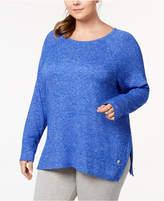 Calvin Klein Plus Size Marled Active Sweatshirt