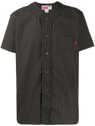 Supreme x Comme des Garcons pinstriped baseball top
