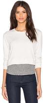 Monrow Double Layer Cropped Sweatshirt
