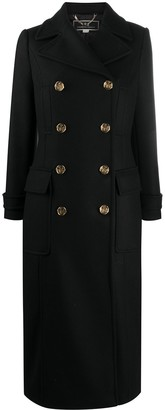 Elisabetta Franchi Engraved-Button Double-Breasted Coat