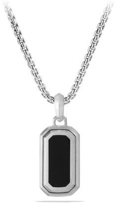 David Yurman Deco Enhanced Sterling Silver & Black Onyx Amulet
