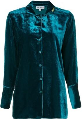 Mira Mikati Velvet Loose-Fit Shirt