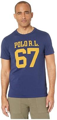 Polo Ralph Lauren Slim Fit Graphic T-Shirt (Cruise Navy) Men's Clothing