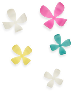 Umbra Glow-in-the-Dark Wall Flowers (Set of 20) - Assorted Colors