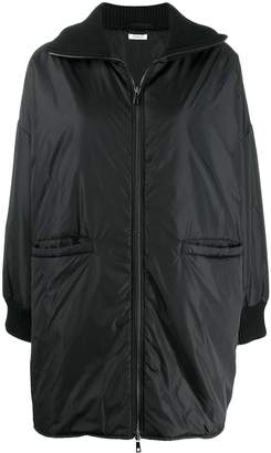 P.A.R.O.S.H. padded zip front coat