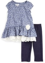 Toddler Girl's Pippa & Julie Peplum Tunic & Leggings Set