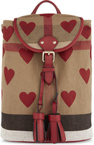 Burberry Heart Check canvas backpack
