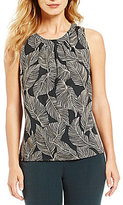 Kasper Abstract Leaf-Print Cami