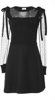RED Valentino Point D'esprit-Paneled Dress
