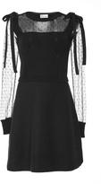 RED Valentino Point D'esprit-Paneled Dress