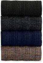 Johnston & Murphy Wool Ribbed Slack-Length Socks