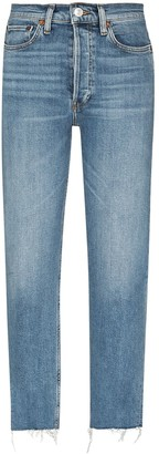 RE/DONE Light Wash Straight-Leg Jeans
