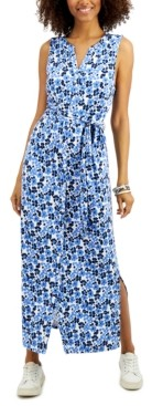 Charter Club Tie-Waist Maxi Dress, Created for Macy's