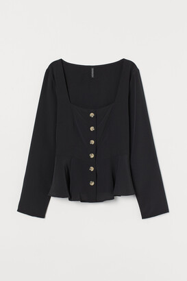 H&M Button-front Blouse