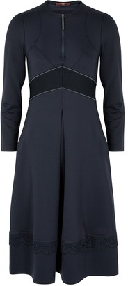 High Adorable navy panelled stretch-jersey dress