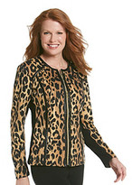 Laura Ashley Pieced Leopard Jacket