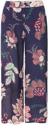 Marella Sgombro Floral print wide leg trousers