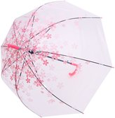 AMC Transparent Cherry Blossom Bubble Dome Shape Semi-Automatic Umbrella for Rain