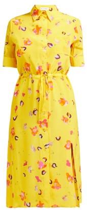 Altuzarra Vittoria Floral-print Silk Midi Dress - Womens - Yellow Multi