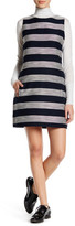 Cupcakes And Cashmere Crew Neck Sleeveless Striped Dress