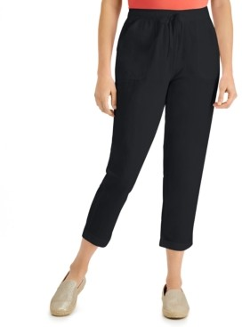 Karen Scott Delilah Cotton Cuffed Capri Pull-On Pants, Created for Macy's