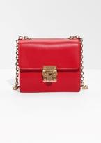 Golden Lock Leather Bag