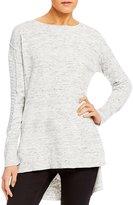 Takara Button-Back Marled Sweater