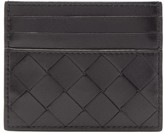 Bottega Veneta Intrecciato Leather Card Holder - Womens - Black