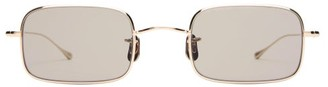 Eyevan 7285 Slim Square Titanium Sunglasses - Gold
