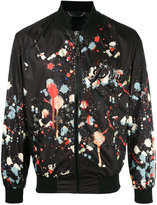 Philipp Plein paint splatter print bomber jacket - men - Polyester - S