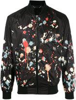 Philipp Plein paint splatter print bomber jacket