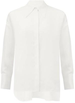 Ssone - Chelsea-collar Hemp Shirt - Ivory
