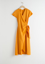 And other stories Lyocell Blend Wrap Midi Dress
