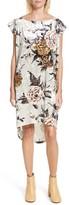 MM6 MAISON MARGIELA Women's Floral Print Velvet Dress