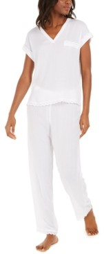 Charter Club Scalloped Eyelet Pajama Set, Created for Macy's