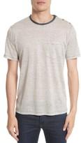 The Kooples Men's Stripe Linen T-Shirt
