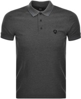 Replay Short Sleeved Polo T Shirt Grey
