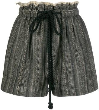 Forte Forte Frayed Herringbone Shorts