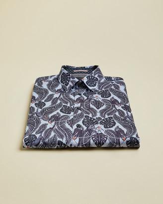 Ted Baker TORCH Monkey print cotton shirt