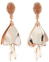 Oscar de la Renta Mini Impatiens Flower Drop Earrings, Rose Golden