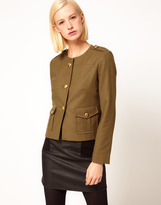 Asos Military Blazer With Gold Buttons
