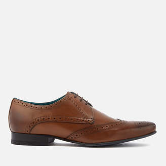 Ted Baker Men's Hosei Leather Wing-Tip Brogues - Tan