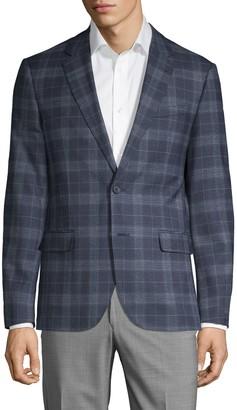 Karl Lagerfeld Paris Slim-Fit Plaid Wool Blend Sport Coat