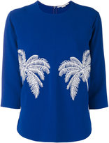 Stella McCartney palm embroidered jumper - women - Spandex/Elastane/Acetate/Viscose - 38