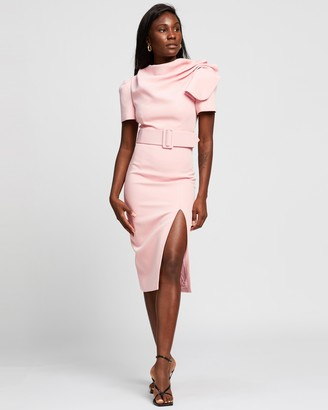 Mossman - Women's Pink Midi Dresses - The Day Break Dress - Size 8 at The Iconic