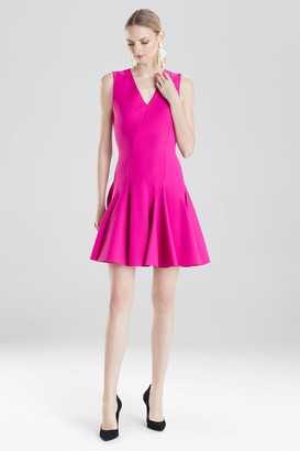 Natori Knit Crepe Flare Dress