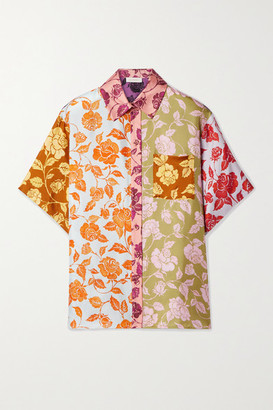 Zimmermann The Lovestruck Floral-print Silk-twill Shirt - Pink