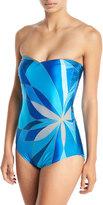 Gottex Kaleidoscope Bandeau One-Piece Swimsuit
