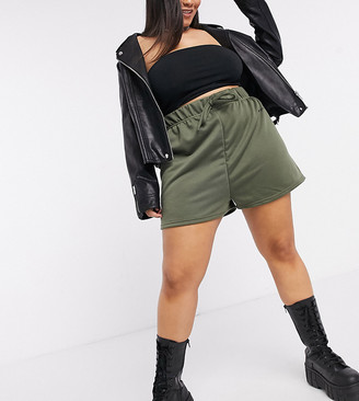 New Girl Order Curve high waisted trackie shorts