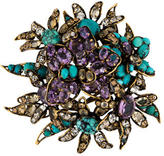 Iradj Moini Crystal Flower Brooch